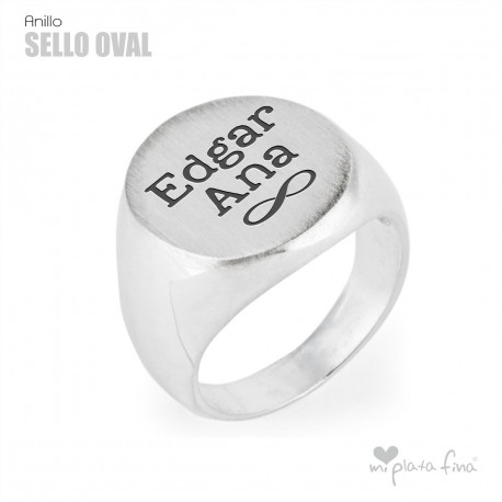 SELLO de plata OVAL