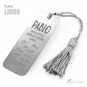 PUNTO DE LIBRO PLATA REGALO PERSONALIZADO JUBILACIÓN