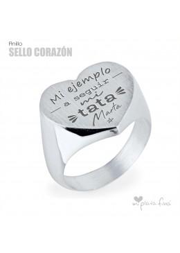 Anillo CORAZÓN sello