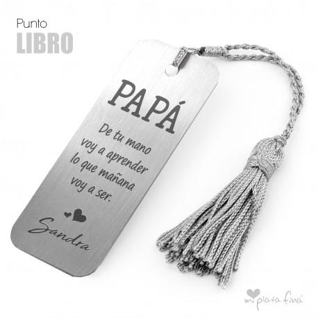 PUNTO DE LIBRO PLATA PERSONALIZADO