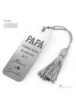 PUNTO DE LIBRO MENSAJE PERSONALIZADO DIA PADRE