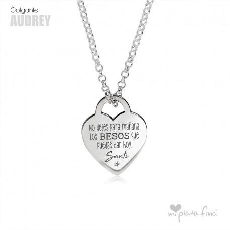 72ac197b15f9 Colgante Corazón en Plata Personalizado con tu Frase