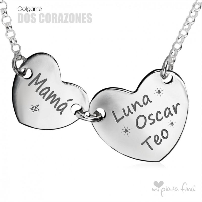 Collar Corazón Con Inscripción Grabada Colgante Día De La Madre