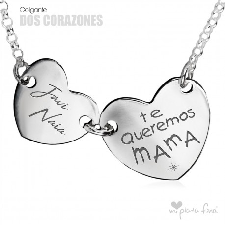Colgante Dos Corazones Día De La Madre