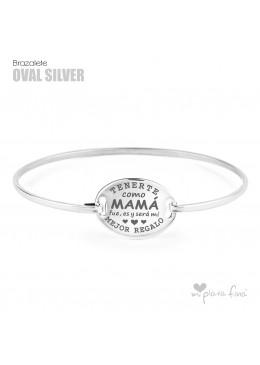 Brazalete OVALADO Silver DÍA de la MADRE