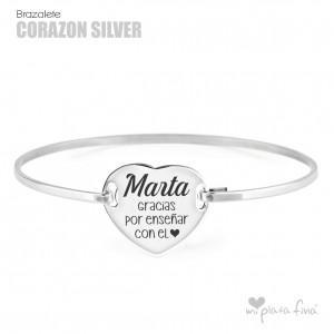 Brazalete Corazón Silver FÍN DE CURSO