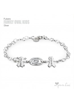 """Family """" OVAL & KIDS """" silver"""