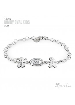 "Family "" OVAL & KIDS "" silver"