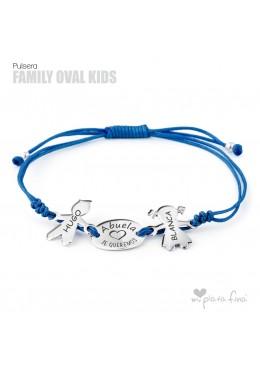 Pulsera OVAL&KIDS Macramé ABUELAS