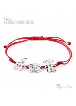 Pulsera figuras Niños y Oval regalo Abuelas