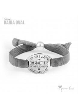 Oval Silver bracelet for Grandma
