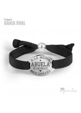 Pulsera Oval en Plata joya personalizada