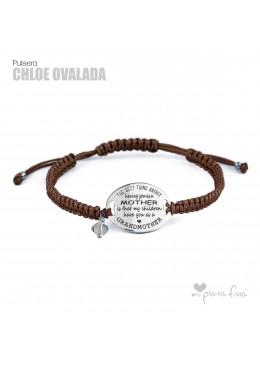 Pulsera Macramé y Plata regalo original para la Abuelita