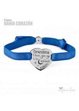 Pulsera Cinta y Corazón Plata regalo para la Abuelita