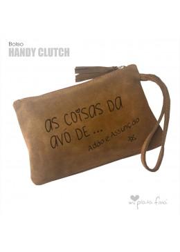Bolsa de couro com mensagem para a Vovó
