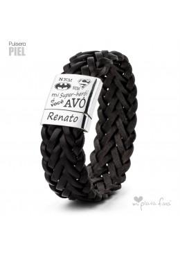 Presente original do bracelete de couro para o Vovô