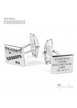 Silver cufflinks original jewel for Grandpa
