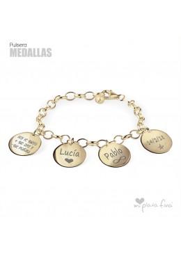 Bracelet Silver Medallas