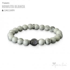 Pulsera HOWLITA BLANCA & CIRCONITA