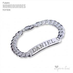 Bracelet Silver Bar No Me Olvides