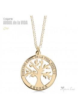 Árbol de la Vida colgante personalizado Abuelos