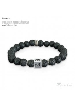 Pulsera PIEDRA VOLCÁNICA Essential Cube