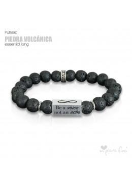 Pulsera PIEDRA VOLCÁNICA Essential Long