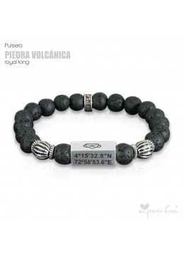Pulsera PIEDRA VOLCÁNICA Royal Long
