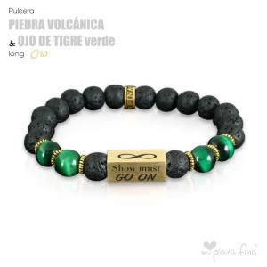 VOLCANIC GEMSTONE vs TIGER'S EYE GREEN Long