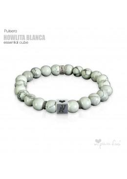 Pulsera HOWLITA BLANCA Essential Cube