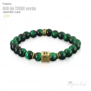 TIGER'S EYE GREEN Essential Cube