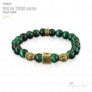 TIGER'S EYE GREEN Royal Cube