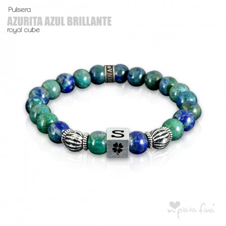 Pulsera AZURITA BRILLO Royal Cube