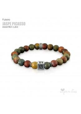 Pulsera JASPE PICASSO Essential Cube