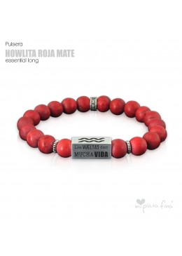 Pulsera HOWLITA ROJO MATE Essential Long