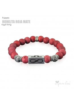 Pulsera HOWLITA ROJA MATE Royal Long