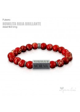 Pulsera HOWLITA ROJA BRILLO Essential Long
