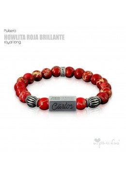 Pulsera HOWLITA ROJA BRILLO Royal Long