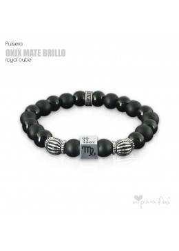 Pulsera ONIX BRILLO-MATE Royal Cube