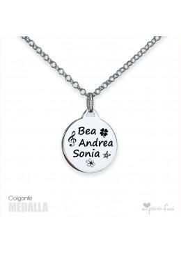 Colgante Medalla personalizada con tu signo Zodiacal