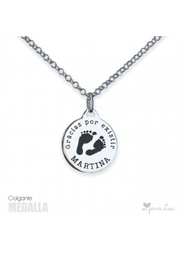 Necklace Silver MEDALLA