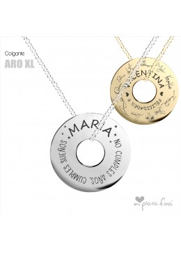 Necklace Solid Silver ARO XL RETIREMENT