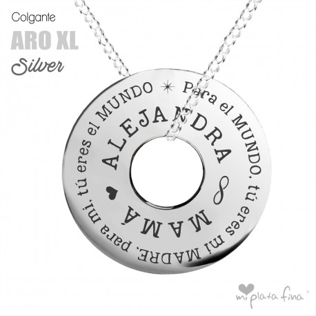 Necklace Silver ARO XL MOTHER'S DAY