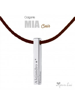 Necklace Bar Mia Cuir