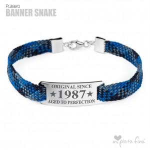 Bracelet Silver Banner Snake FATHER'S DAY