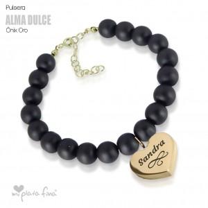 Bracelet Onix Heart Gold