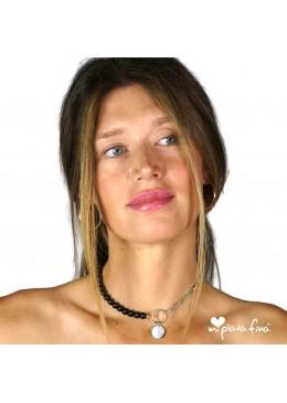 Necklace & Bracelet Onix Silver