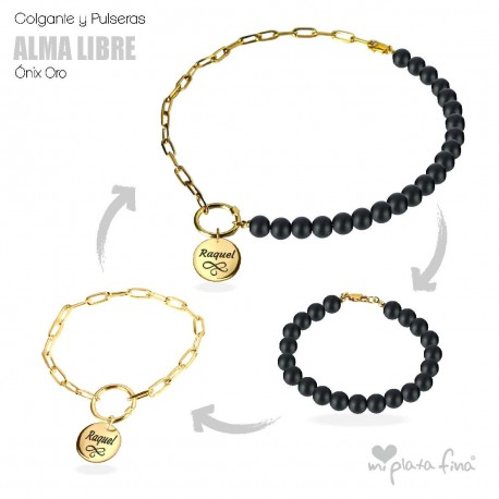 Necklace & Bracelet Onix Gold