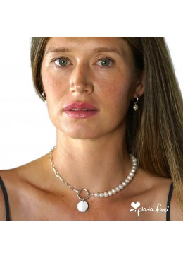 Necklace & Bracelet Pearl Silver