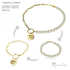 Necklace & Bracelet Pearl Gold